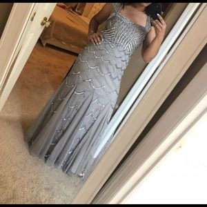 Gray dress for wedding or parties